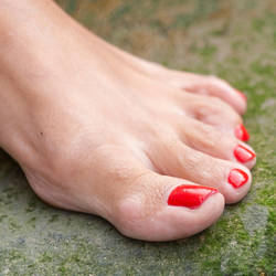 Bella's Perfect Red Toes by MTL3