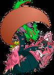 Shiny and Pink Tree Team by Kugawattan