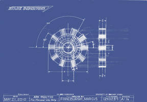 Arc Reactor Blueprint by MarkFinn
