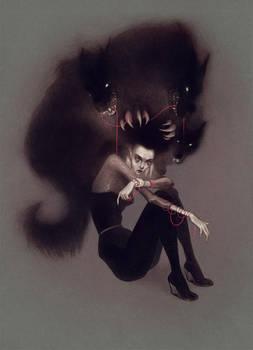 Black dog by LenkaSimeckova