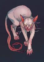 Goblin cat by LenkaSimeckova