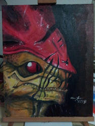 Urdnot Wrex 16x20 Acrylic on Canvas by cat-gray-and-me78