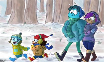 Snow Walk by BroGirl62