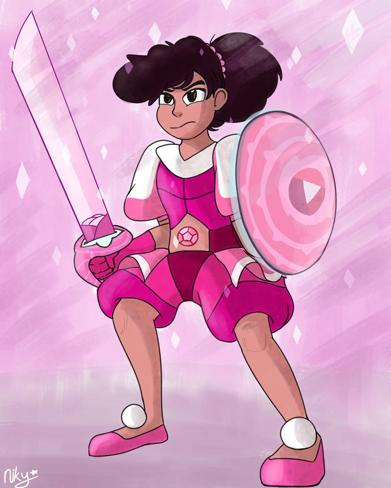 I absolutely adored them in Pink Diamonds' outfit! It's sooo fitting   (Hey so I've drawn Stevonnie before but was never proud of the sketches enough to try and finish them nor post them)