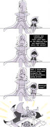 First Meet (Deltarune comic) by BroGirl62
