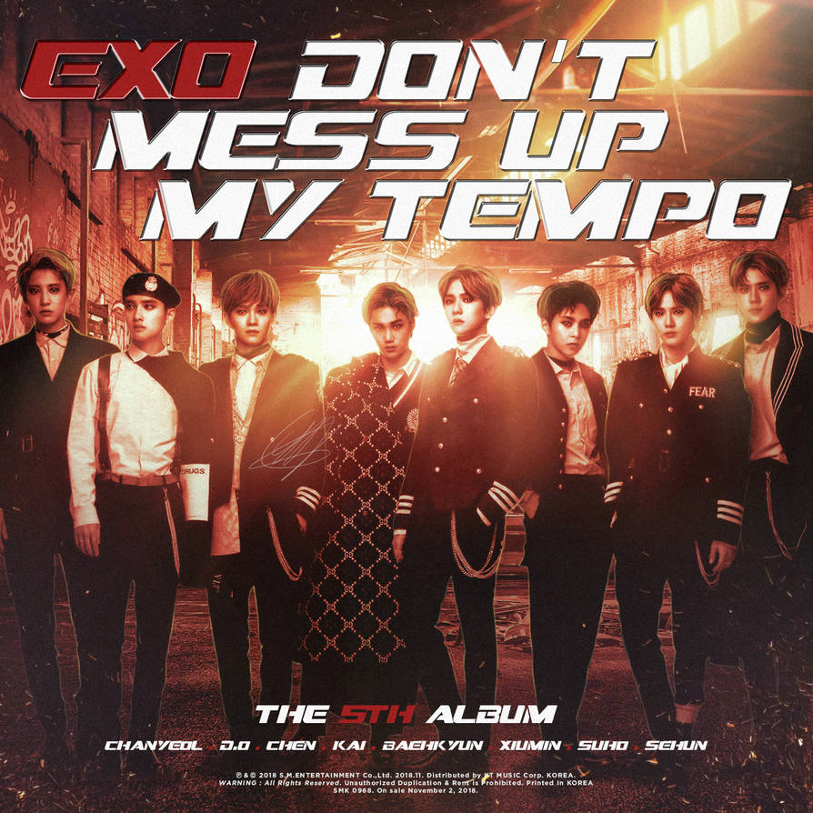 Exo Don T Mess Up My Tempo By Goldendesigncover On Deviantart