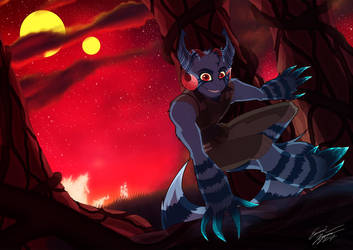 A Leap In the Night by KalmaHine
