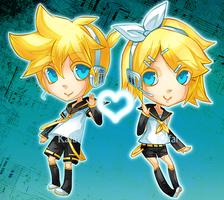 Rin and Len by Kafai