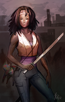 Michonne by Kafai