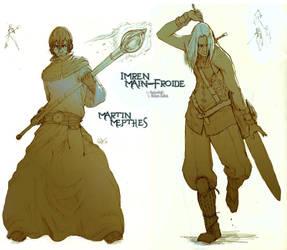 Commissh - Martine and Imren by kasai