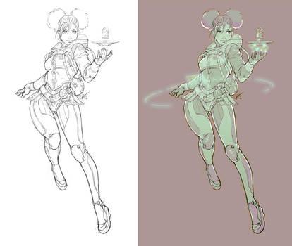 Space Waitress by kasai