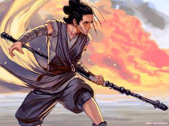 Rey Starwars by kasai