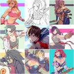 July rewards - Patreon by kasai