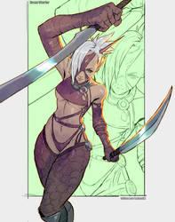 Commission - Devan Warrior by kasai