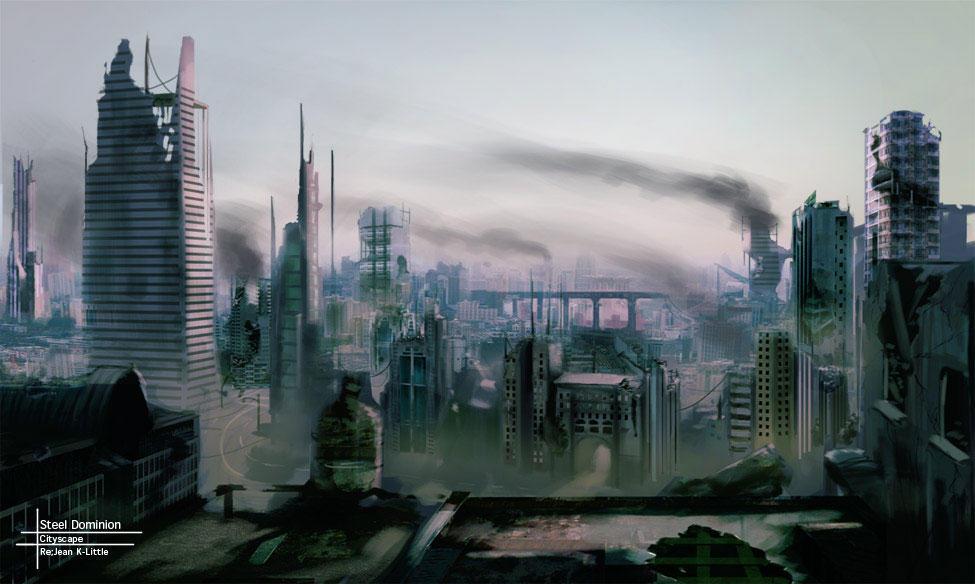 Steel Dominion - Cityscape by kasai