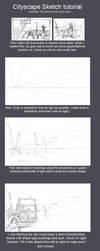 Cityscape Sketch tutorial by kasai