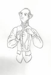 Wolfe ties his cravat by bigbellyfatbob