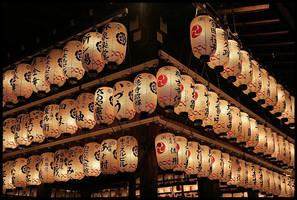 Lanterns in Kyoto by cartezch
