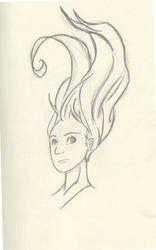 flying hair by JRSJ