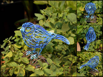 Voronoi Songbird Painted by TempestWorks