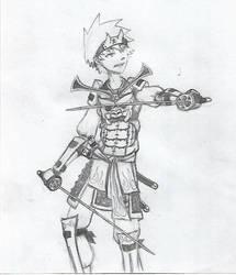 Samurai sketch  by kiteuna