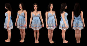 Leo Dress Orthographic by LexLucas