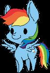 Pixel Rainbow Dash by KimkahMakara