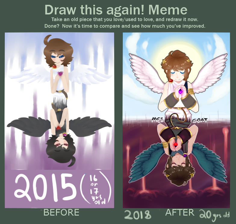 Mirrored Image [Draw This Again Meme] by MeiGoat