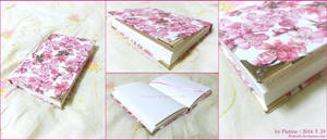 [bookmaking] Floral Pink Notebook by PlatinaSi