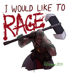 Grog would like to RAGE by Viktormon