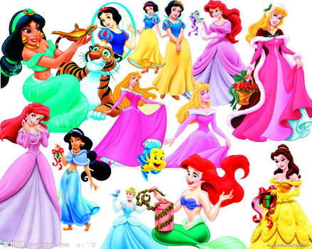 Disney Princess - Clipart PSD by Alce1977