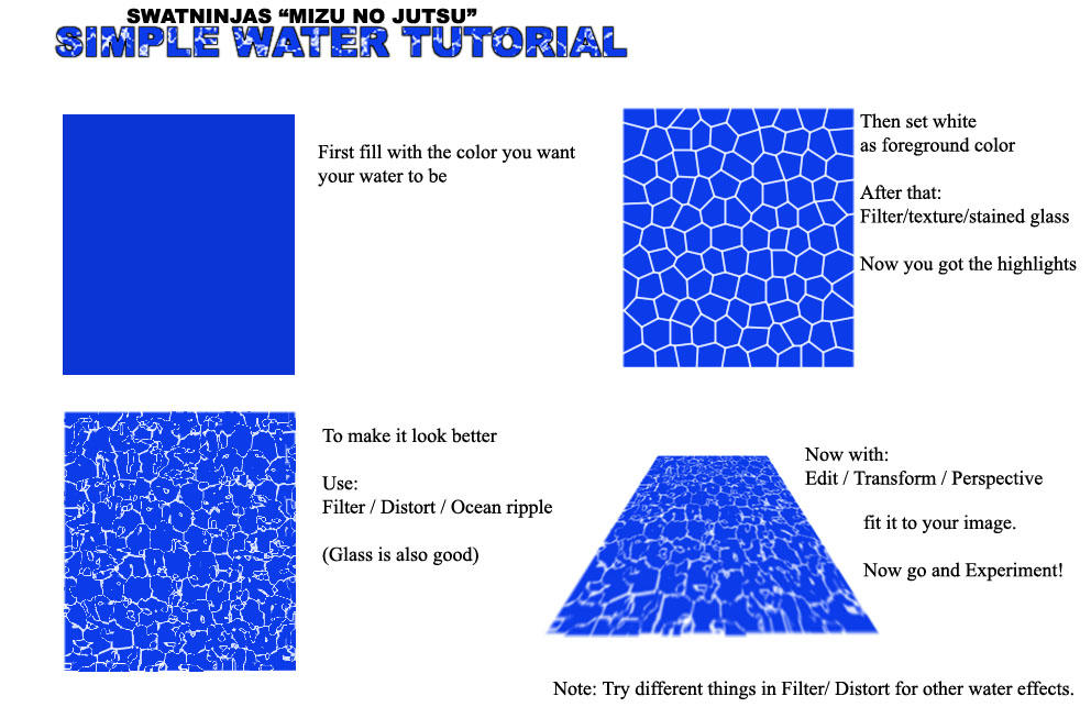 Simple Water Tutorial by Swatninja