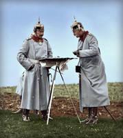 Kaiser Wilhelm II on military maneuvers by KraljAleksandar