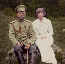 Emperor Nicholas II and Grand Duchess Tatiana by KraljAleksandar