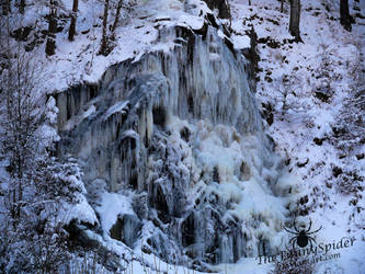 Frozen Waterfall by TheFunnySpider