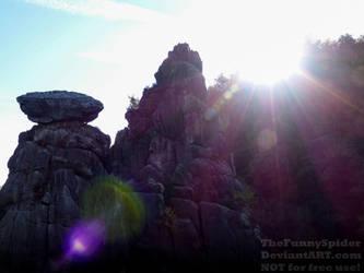 Externsteine closeup view by TheFunnySpider