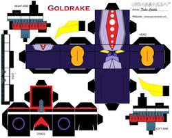 Goldrake cubeecraft by melopruppo