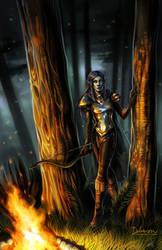 Lady of the Hawkeye by Del-Borovic