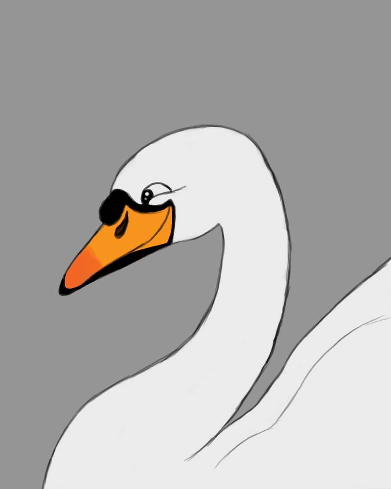 Happy Swan Daily sketch #603 by GothicVampireFreak