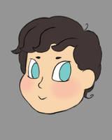 Chibi Sherlock Head Daily sketch #941 by GothicVampireFreak