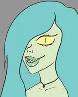 Green Lady Daily sketch #946 by GothicVampireFreak