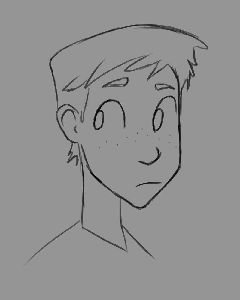 Sketchy Boy Daily sketch #997 by GothicVampireFreak