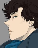 Sherlock Manga Daily sketch #1133 by GothicVampireFreak