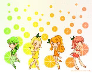 Citrus Girls Wallpaper by girlunderwater