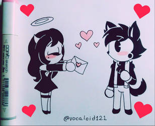 .Valentine's Day: for you my cute wolf!. by Vocaloid121