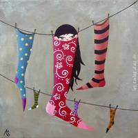 En chaussettes by lestoilesdaz
