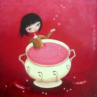La soupe aux pois roses by lestoilesdaz