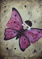 Le papillon rose by lestoilesdaz