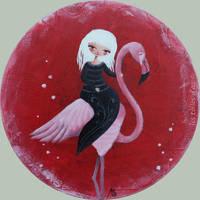 Le flamant rose by lestoilesdaz