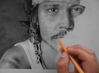 W.I.P Johnny Depp by raulrk